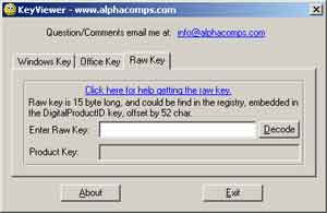 office 15 product key in registry